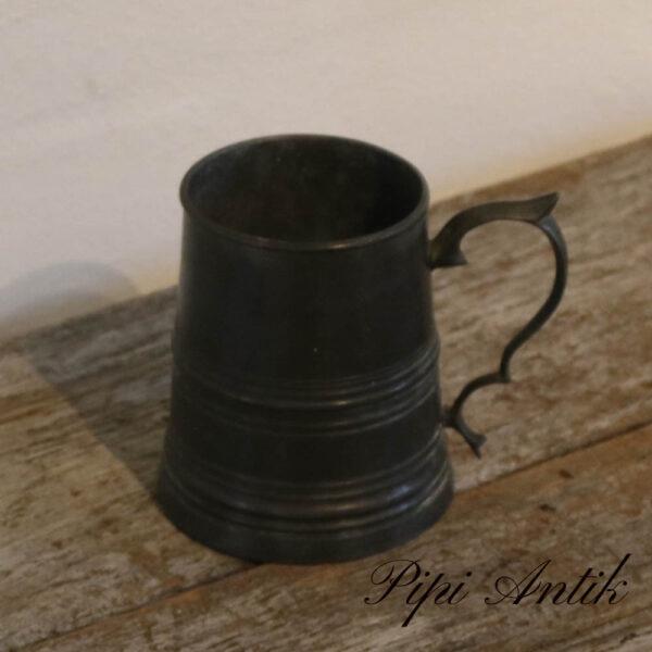 Tin krus Ø9,5 cmx10cm