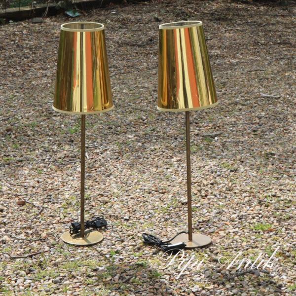 Retro guld lampe ru messing fod Ø21xH77,5 cm