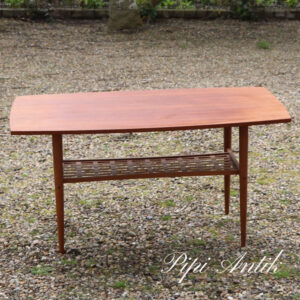 16 Teak sofabord med underhylde Alberts Tibro Sweden L110xB53,5 xH54 cm