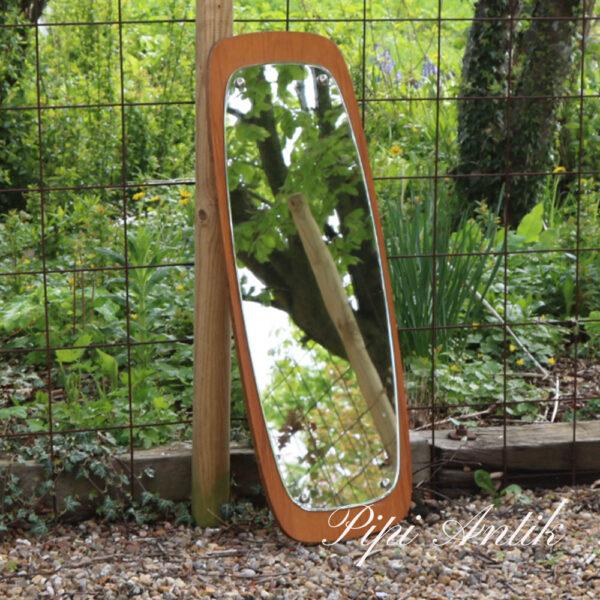 19 Teak retro spejl B38xH93,5 cm