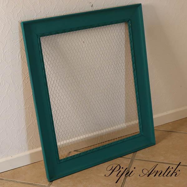 23 Emerald billedramme med hønsetråd til opslagtavle B72xH72xD5,5 cm