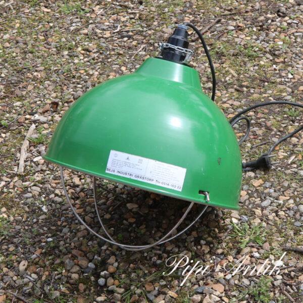 Industrilampe grønt varmelampe Ø40xH39 cm