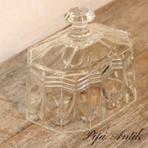 Glas osteklokke uden tallerken retro L18,5xD12,5xH16cm
