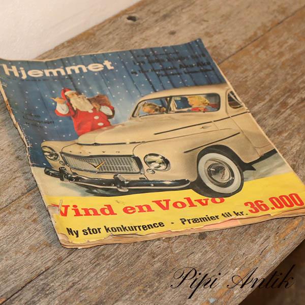 Hjemmet Vind en Volvo 1957 B25xH34cm
