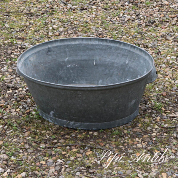 49 Zink balje uden huller med hank L51xB39xH20,5 cm