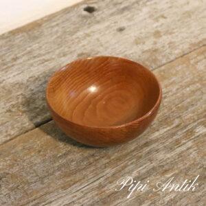 90 Teak lille skål håndlavet Ø11,5xH5cm
