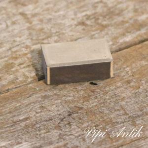 Retro tændstikbeholder i krom L4,5xB3xH1cm