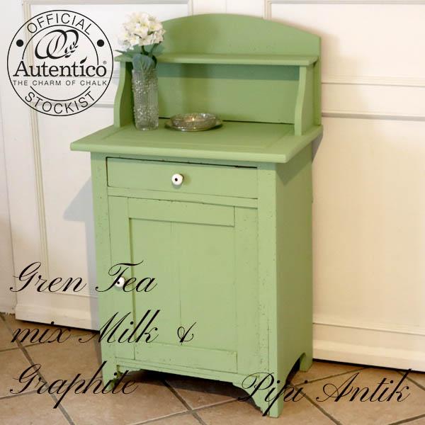 Green Tea mix mintgrøn toiletmøbel servantebord L63x41xH110cm