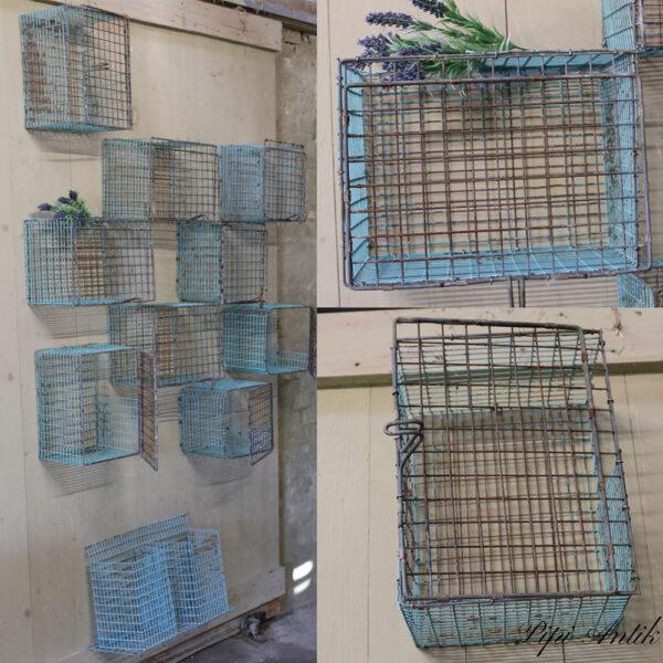Minkbure industribure metal blåligt patineret rene retro