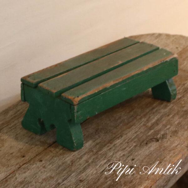 Mini grøn skammel L30xD14xH10 cm
