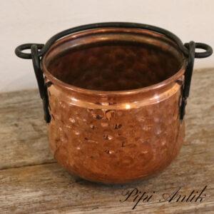 Kobber potte skjuler Ø5,5xH9,5 cm