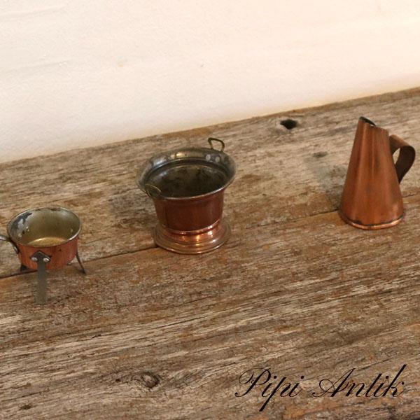 113 Kobber miniature ting per del