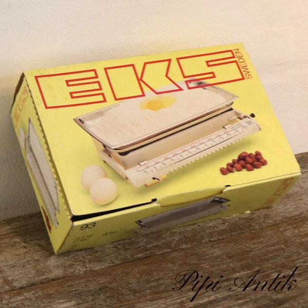 Retro EKS køkkenvægt helt ny i kasse og plastic L30xB19xH9 cm