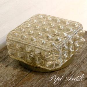 14 Retro loft lampe bobler oliven farvet L20x20xH11,5 cm