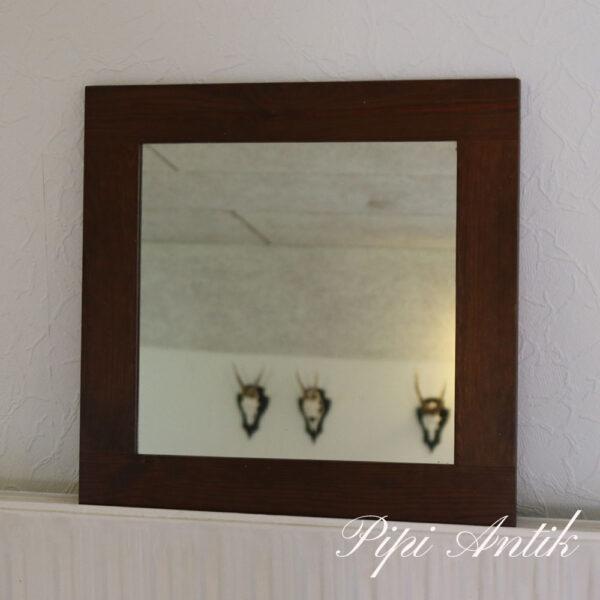 Spejl mørkt træsort lakeret L42,5xH3½,4xD1,5 cm
