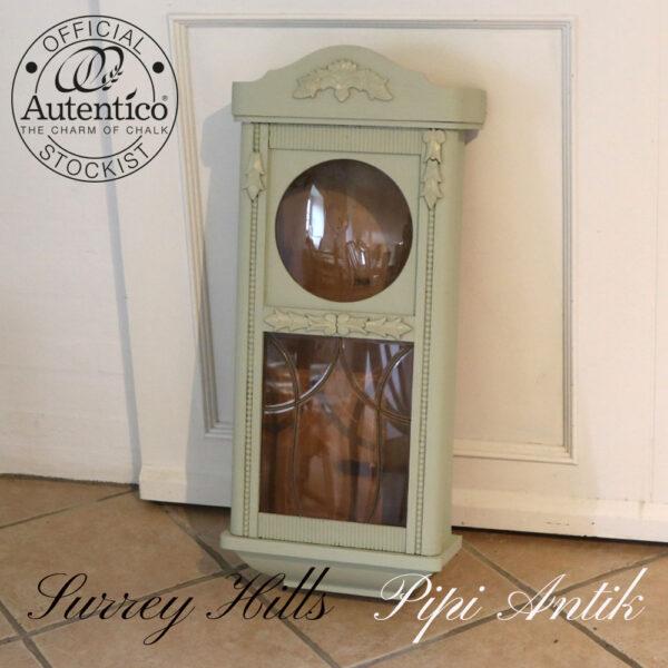 Urkasse vitrine med 1 hylde inde natur og Surrey Hills B34xD16xH72 cm
