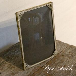 17 Retro metal fotoramme hvid guld B15,5xH20,5cm