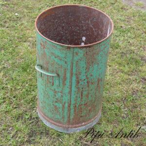 24 Metal spand med rusthul til udplantning Ø32xH49,5 cm