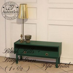 Entre kommode i Autentio Black Hills mix m Bright Green L91xD33xH44,5 cm