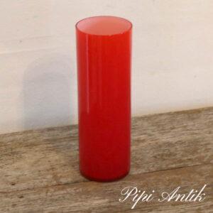 Retro orange glasvase Ø7,5xH21,5 cm