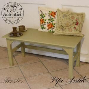Bænk sofabord rester Autentico L100xD45,5xH45 cm