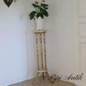 Marmor piedstal i guld Ø26,5xH102 cm