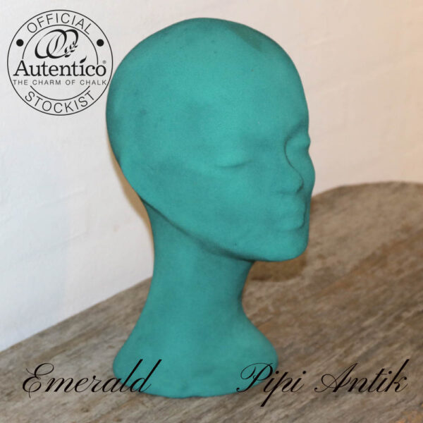 Emerald velour hoved i flaminco H36 cm