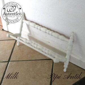 Hvid håndklæde viskestykkeknage L58xD12xH29cm