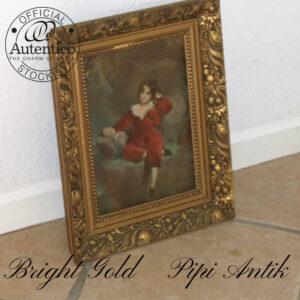Bright Gold billede med en lille dreng pige B30,5xH40,3 cm