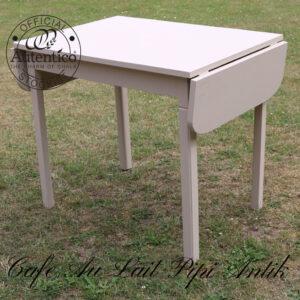 Cafe Au Lait køkken klapbord L88,5xB65xH77 med klap ud 131,5 cm