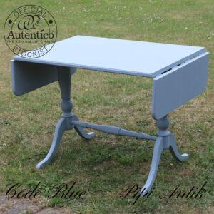 Code Blue sofabord med 2 side klapper Autentico kalkmaling L80xD55xH61 plus 2 klapper x20 cm