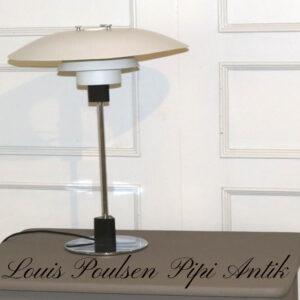 Louis Poulsen tegnet af Poul Henningsen PH 4/3bordlampe metal med krom look fod Ø45xH56 cm