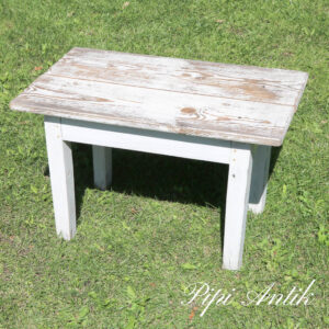 201 Mini bænk eller sofabord rustikt look gråhvidt L66xB40xH41 cm