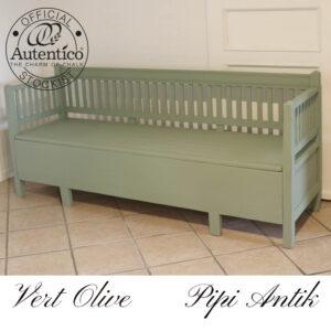 Slagbænk i Vert Olive L187,5xD53xH79 cm sædet 43 cm