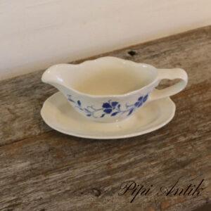 Sovseskål med blomstermotiv creme blåt L22xB15,5xH9,5 cm