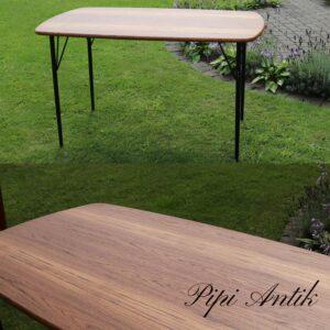 03 Teak spisebord med sorte bordben L10xB80xH75cm