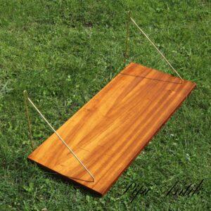 10 Teak hylde string L70xD30,5xH28 cm