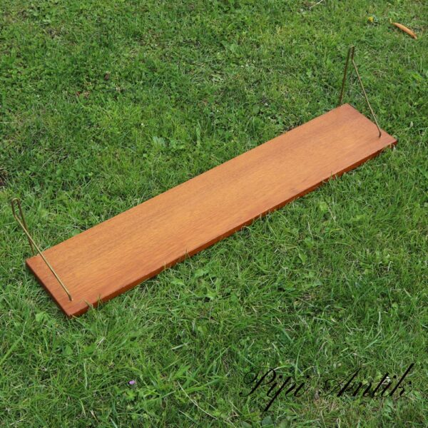 13 Teak string hylde L80xD16xH17cm