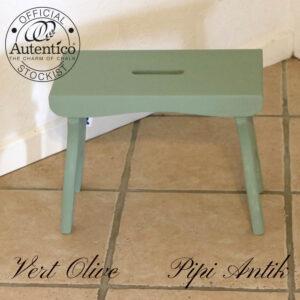 221 Skammel i Vert Olive Autentico L39xB20xH30cm