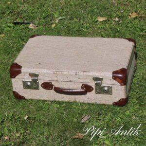 42 Lille beige meleret kuffert L50xB33xH16 cm