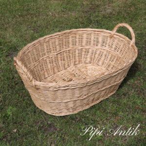 527 Flettet vasketøjskurv naturfarvet L70xB50xH23 cm