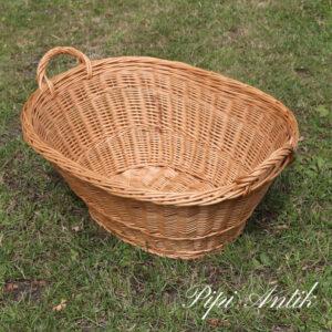 528 Mini vasketøjskurv natur L56xB42xH23 cm