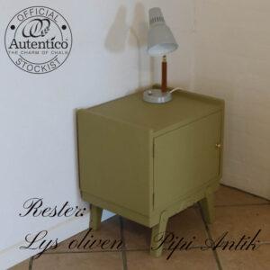 Natbord Autentico rester lys oliven L44,5xD35xH50 cm