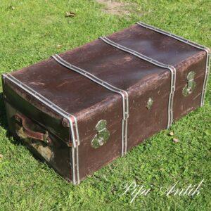 Stor amerikaner brun kuffert L90xB50xH35cm