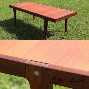 Teak sofabord retro robust teak ikke finer L160xB60xH50cm