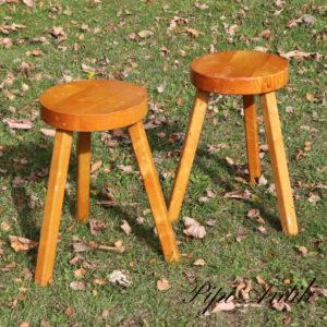 2655 Retro natur taburetter stole Ø27xH45cm