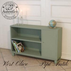 Reol skab i Vert Olive L110xD27,5xH70cm