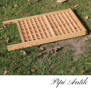 Sættekasse natur formet som vaskebræt B43xH70xD5cm