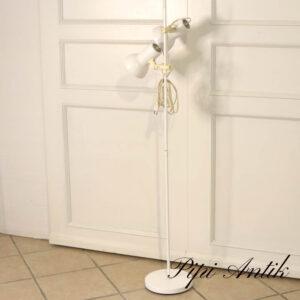 14 Retro hvid standerlampe Ø23xH132cm