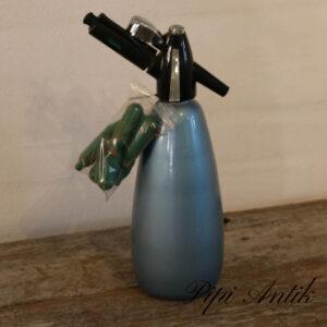 Sifon retro blåt med patroner Ø10xH33cm